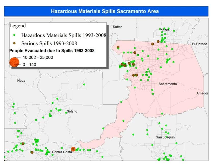 Evacuations from Hazardous Materials Spills, Los Angeles, San ...